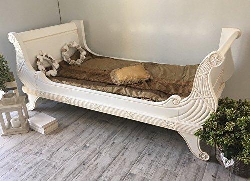 Ehebett Antik Doppelbett Provence Massivholz Schlafzimmer Mahagoni 91 x 218 x 104 cm