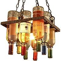 Candelabro Lámparas de Botellas de Vidrio - Creativo Bar Restaurante Cafe Decoración Botella de Vino Personalidad