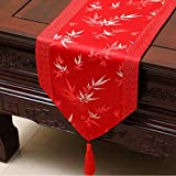 NKLHJ Tischläufer Stolz Rose Satin Tischläufer Tischfahne Tischdecke Einfache Tee Tischläufer Bett Flagge Dekoration (33 * 230 cm)