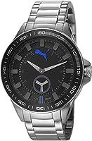 PUMA time Cyclone hombre-reloj analógico de cuarzo de acero inoxidable PU103631001 de Puma Time