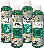Timely Aloe-Hundeshampoo, sanft für geschmeidiges Fell, (Packungsinhalt 4 x 250 ml)