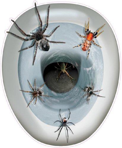 Décoration autocollante pour abattant de wc Araignées - taille - Taille Unique - 213401
