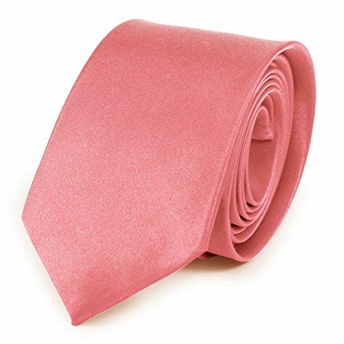 Herren-Krawatte, einfarbig, 25 Farben, Handgefertigt. Für Hochzeiten, modisch Gr. Einheitsgröße, rose