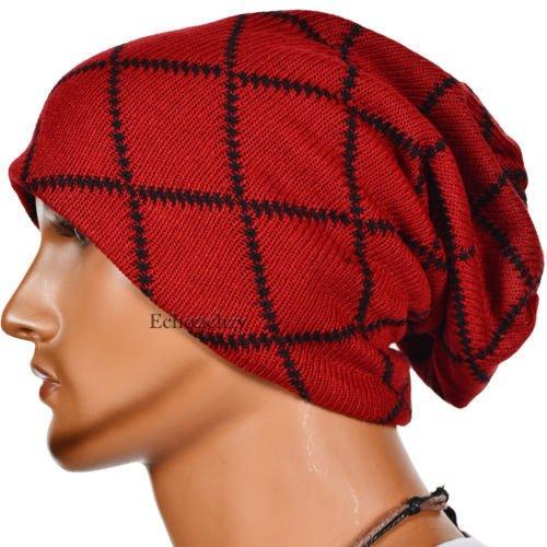Unbekannt Master-Halloween/Weihnachten/Mützes Männer/Frauen/Gestrickte Hüte_Outdoor gestreifte Mützen/Hüte, Rot (Hut Rot Gestreifte)