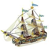 ROBOTIME Puzzle di Legno Kit Modellazione 3D Costruzione Della Barca di Giocattoli Per Bambini Model Kit Hobby Spedizioni per adulti Gothenburg