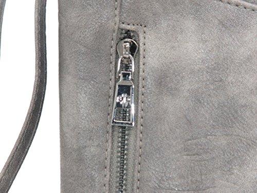 RabamtaGO Collection® , Borsa Messenger  Uomo nero grau Größe ca. 20 x 6 x 23 cm grau