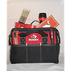 Husky 12 Inch Tool Bag and Holiday/New Years Resolution Motivation Kit Bundle