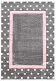 Livone Kinderteppich Happy Rugs Point Silbergrau/rosa 120x180 cm