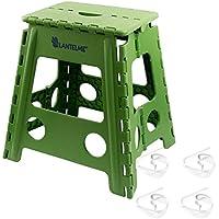 Lantelme 6239taburete plegable verde y toalla mesa–En Set–Taburete y Mesa grapas de plástico para el hogar–Jardín