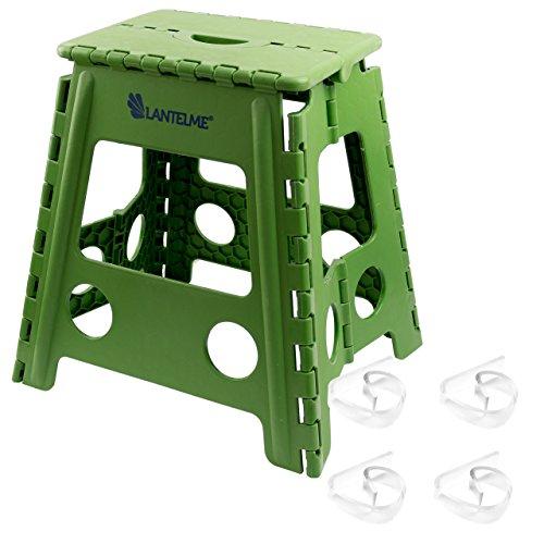 lantelme-6239-taburete-plegable-verde-y-toalla-mesa-en-set-taburete-y-mesa-grapas-de-plastico-para-e