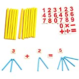 Enlarge toy image: MMRM Math Manipulatives Wooden Number Cards & Counting Rods Kids Preschool Educational Toys