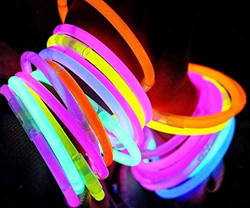 Imagen de pulseras luminosas  100 unidades variado  pulseras luminosas de la máxima calidad  pulseras fluorescentes  varitas luminosas