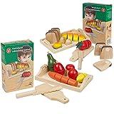2pièces. Kit Pain Fruits et Légumes à Découper, Möhre champignon Citron Ampoule bois spieleug, magasin, cuisine pour enfants
