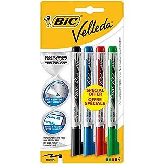 BIC Velleda Free Ink Pocket Fieltro borrable en seco colores surtidos blister de 4