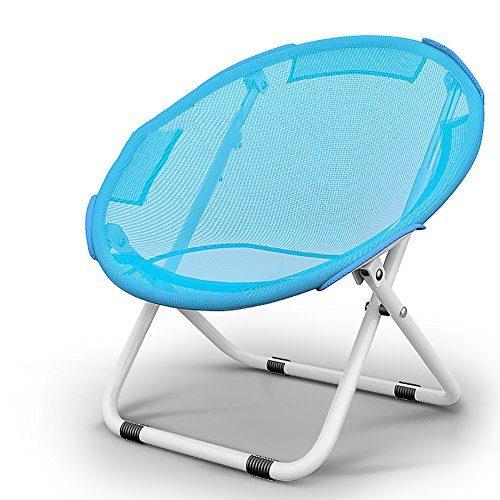 ZCJB Large Moon Chair Sonnenliege Lazy Chair Lounge Stuhl Liegestuhl Klappstuhl Round Chair Erwachsenen Sofa Chair Home (Farbe : Blau, größe : Without Cotton pad)