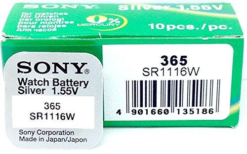 Sony sr1116wn-pb - Pile 365 blister sans mercure pour appareils auditifs, caméras, montres et caméscopes (1.55 V, 160 mAh)