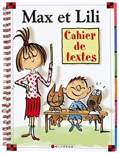Cahier de textes Max et Lili par Dominique de Saint-mars