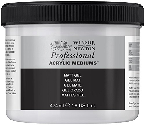 Winsor & Newton Medium - Gel acrilico opaco, 474 ml