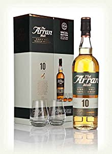Arran Single Malt Whisky Gift Set With Glasses (10 Year 70cl) by Arran