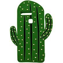 Huawei P9 Lite / Huawei P9 Funda, DUGRO Nuevo 3D de Dibujos Animados de Suave Silicona [Diseño más Grueso] Ultra Anti-Choque Teléfono Caso - Cactus