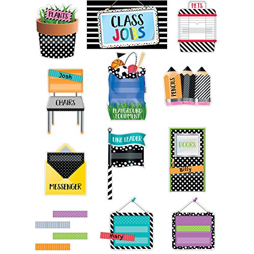 Creative Lehre Press Mini Bulletin Board Bold & Bright Class Jobs (2184) - Job-chart