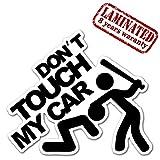 1 Stück Vinyl Don't Touch My Car Aufkleber Autoaufkleber Stickers Auto Moto Motorrad Fahrrad Helm Fenster Tuning B 103