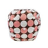 Sijueam Couche de bain bébé Lavable ajustable Maillot pour Piscine Natation Unisexe Imperméable Culotte Anti-fuite 0-24 mois / 10-18 kg (Rose)