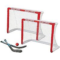 Bauer Hockey sobre Rodilla Objetivo Set (, 2Unidades), Color Rojo