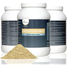 Proteína vegetal en polvo de Vegavero | sabor vainilla | Mezcla de proteínas de soja, guisante, arroz y cáñamo | 800 g - Vegano | suplemento ideal para deportistas