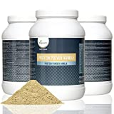 Vegan Protein Powder 800g | Advanced Combination of Pure Plant Based Proteins - Soy, Pea, Rice and Hemp | 18 Αμινοξέα, Diet and Sports Supplement | High Protein and Low Carb Content | Flavour: Silky Vanilla or Rich Chocolate | VEGAN by Vegavero (Vanilla)