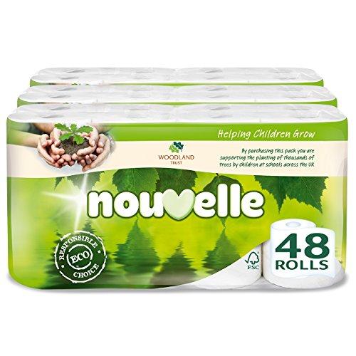 nouvelle-woodland-trust-blanco-2-capas-papel-higienico-pack-de-3-total-48