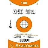 Exacompta 10652E Fiches Bristol 10 X 15 cm Multicolore