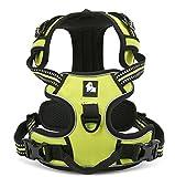 Vivi Bear strapazierfähiges Hundegeschirr mit reflektierenden 3M-Sicherheitstreifen, Hundegeschirr, verstellbar, gepolstert, mit Hundeleinen-Ring, verschiedene Größen