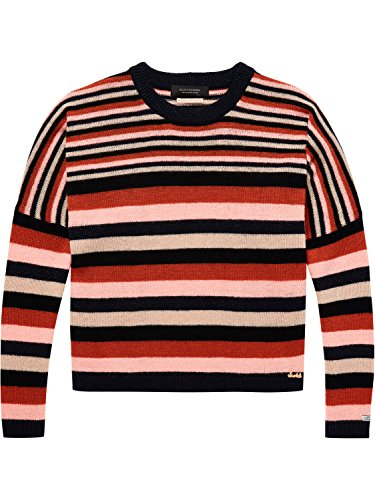 Scotch & Soda Maison Damen Super Soft Pullover in Multi Stripe, Mehrfarbig (Combo A 17), Small (Wolle Combo)