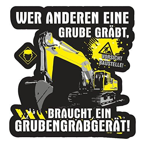 Baggerfahrer 10cm Bagger Handwerker baumaschinenführer Kind ()