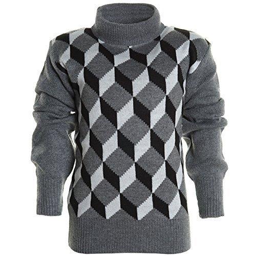 BEZLIT - Maglione - Camicia - A quadri - Collo a U  - Maniche lunghe  -  ragazzo Anthrazit 8 anni