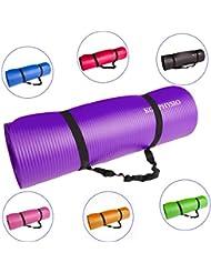 Colchoneta Antideslizante Espesa Para Yoga KG | PHYSIO (12mm), Calidad Premium Colchoneta de Fitness para Gimnasio, Pilates o en Casa con Tirante (dentro de la colchoneta)