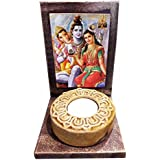 YaYa Cafe Bhagwan Shiv Parvati Ganesh Parivar Votive Tealight Candle Holders Set Of 1 | Tea Lights T-lights Candles Diyas Lights For Home Decoration Items Home Decor | God Idols For Puja Room| Corporate Gifts