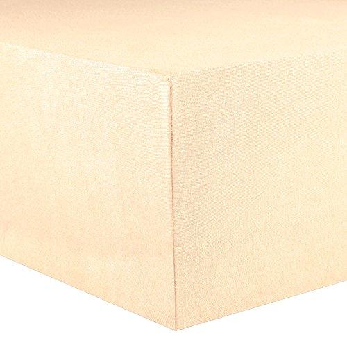 CelinaTex Lucina Spannbettlaken 180x200 - 200x200 natur beige Jersey Baumwolle Spannbetttuch Doppelbett Matratzen 0002812