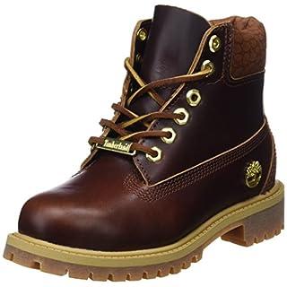 Timberland Unisex Kinder 6 inch Premium Waterproof Klassische Stiefel, Gelb (Wheat Quartz Exotic H42), 34,5 EU
