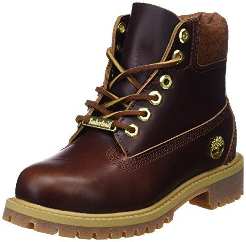 Timberland Unisex Kinder 6 inch Premium Waterproof Klassische Stiefel, Gelb (Wheat Quartz Exotic H42), 35 EU