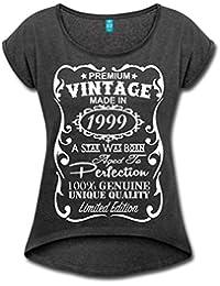 18. Geburtstag Geburtsjahr 1999 Premium Vintage Frauen T-Shirt mit gerollten Ärmeln von Spreadshirt®