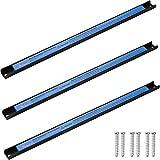 TecTake 3er Set Magnetleiste Werkzeughalter | geeignet für alle magnetischen Gegenstände | inkl. Montagematerial | 46cm
