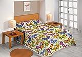 Sabanalia - Colcha Butterflies (disponible en varios tamaños y colores), Cama 90 - 180 x 280