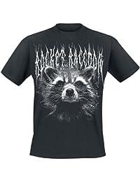 Guardianes De La Galaxia 2 - Black Metal Rocket Camiseta Negro ZxuPrf
