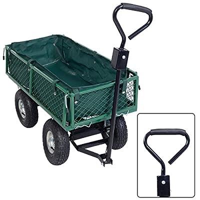 Gartenwagen Faltbare Bollerwagen Handwagen Gerätewagen Handkarren Transportkarre mit Plane von FDS - Du und dein Garten