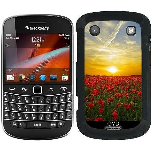 Custodia Blackberry Bold 9900 - Tramonto Su Un Mare Di Papaveri by Grab My Art