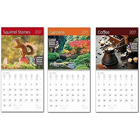 Kalpa Calendarios de pared de 2017Combo Pack Vida Exclusivo Colecciones - 3 en uno Combo CA06 + CA11 +
