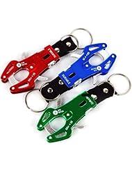 3pcs colores surtidos Enlaces aluminio Tiger aleación Hook Climb Lock Clip mosquetón