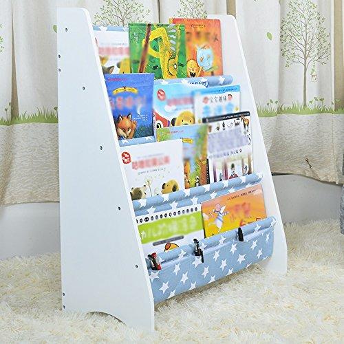 Porte-magazines et porte-journaux Étagères Woody Magazine Étagère Lovely Landing 4e Étagère ( Couleur : Bleu )